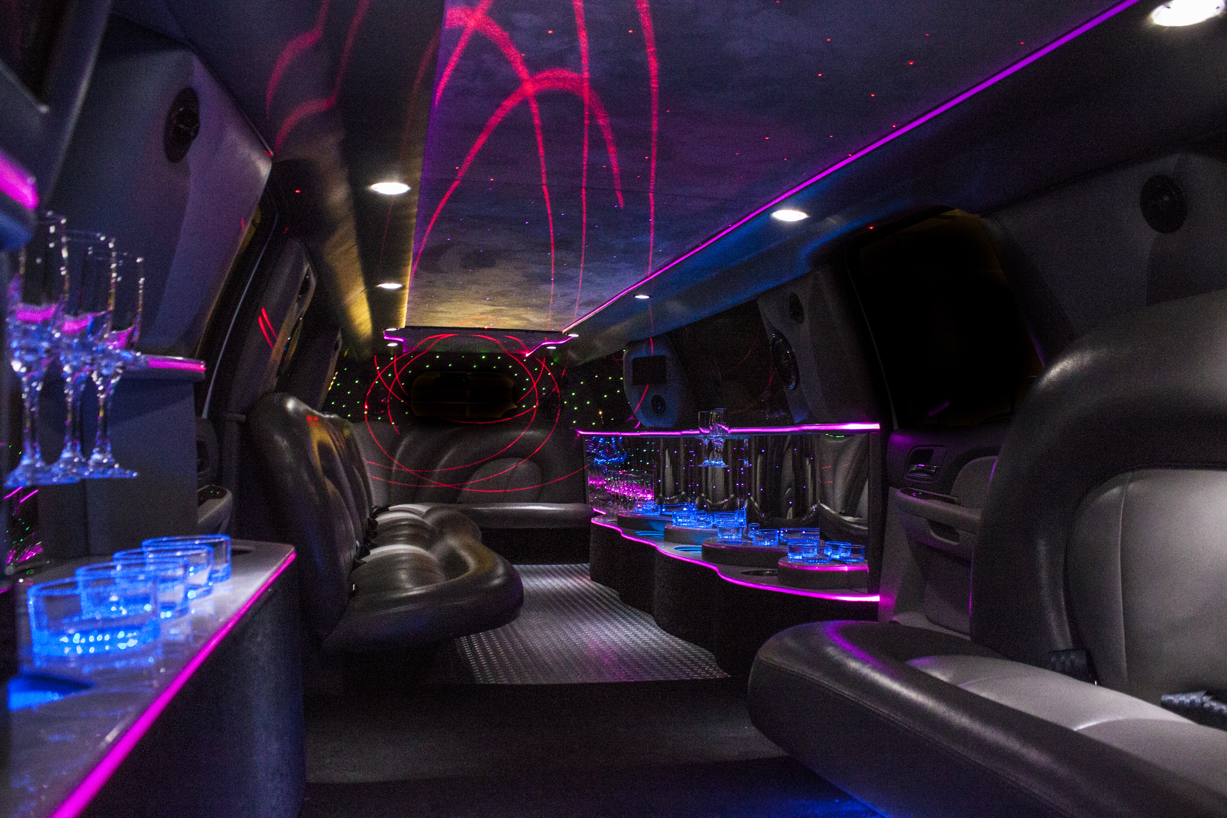 stretch limo interior