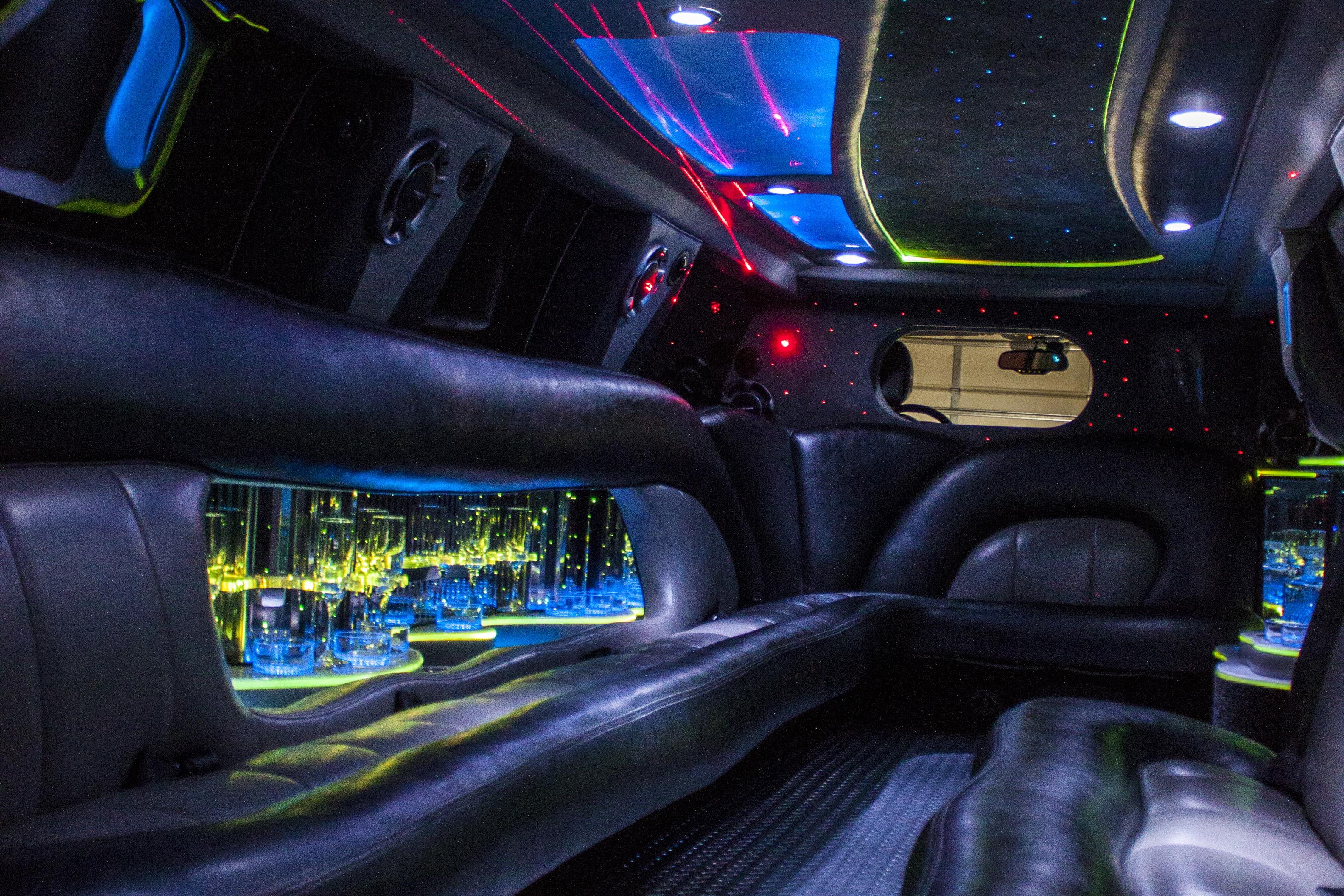interior of escalade limousine 2