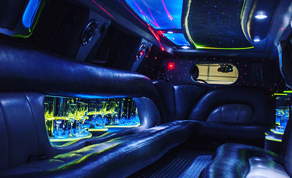 Inside Stretch Limousine